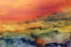 Orange Himmel