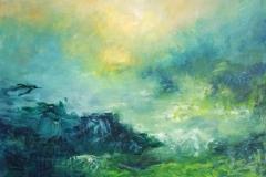 Grønt landskab  solgt