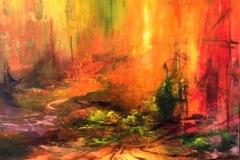 poetisk landskab 100x80 solgt