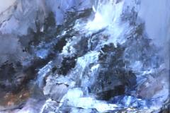 Abstrakt landskab 60x50